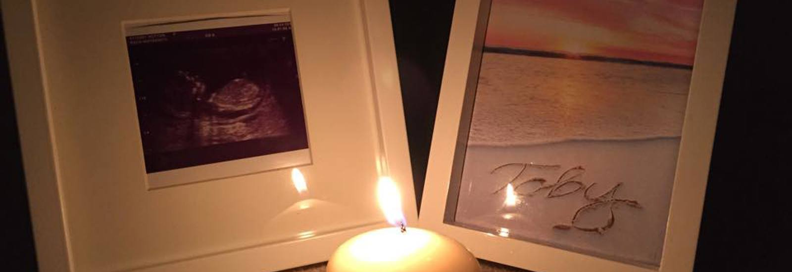 Stillborn angel baby memorial candle wave of light