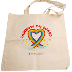 Rainbow baby canvas bag