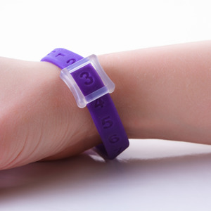 Kicks Count Wristband - Purple